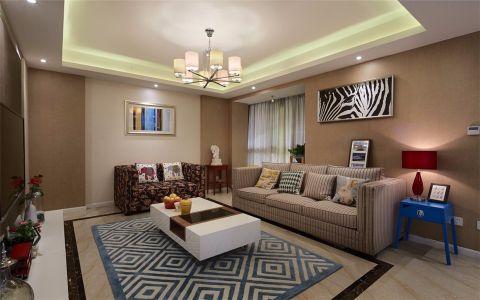 5万预算89平米三室两厅装修效果图