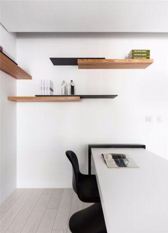 沉稳米色书房装潢设计图片