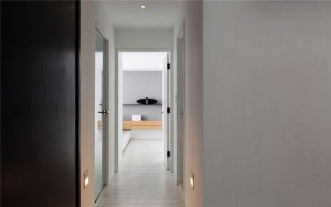 玄关白色走廊现代风格装潢设计图片