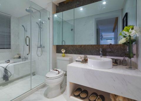卫生间隔断现代风格装潢设计图片