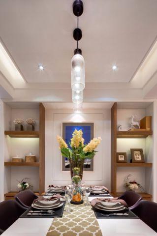餐厅白色吊顶简约风格装饰设计图片