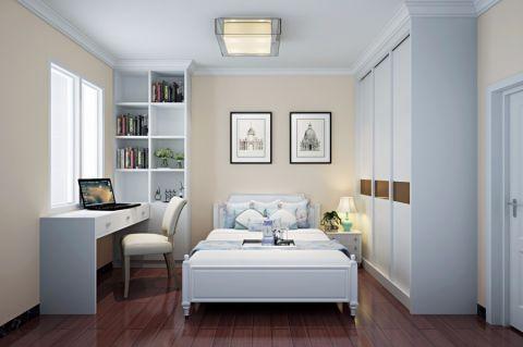 卧室白色书桌现代简约风格装饰效果图