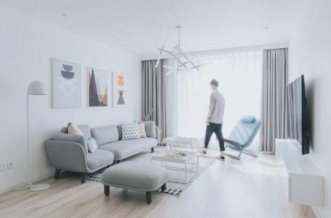 奥克斯100平现代风格二居室装修效果图