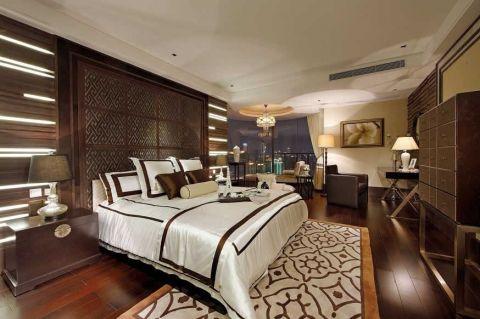 卧室白色床中式风格装潢效果图
