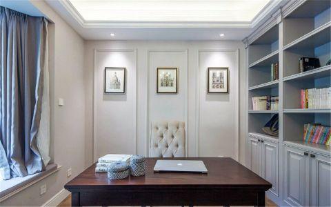 书房书桌美式风格装潢效果图