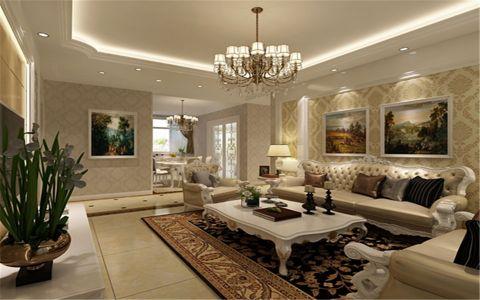 7万预算102平米三室两厅装修效果图