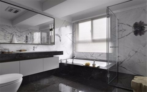 浴室隔断简约装饰实景图