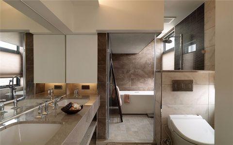 卫生间隔断现代风格装潢效果图