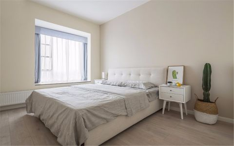 卧室背景墙北欧风格装修设计图片