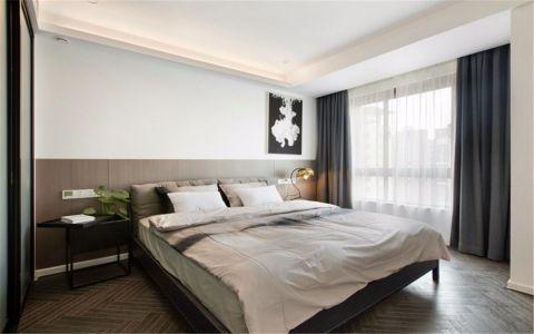 卧室床现代风格装潢效果图
