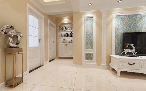 客厅背景墙简欧风格装修设计图片