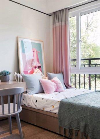 儿童房窗帘新中式风格装饰图片