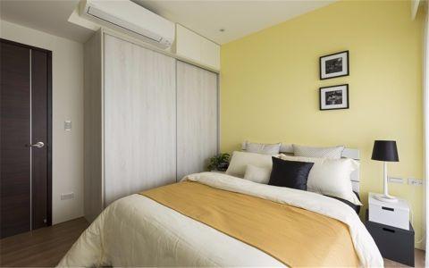 卧室白色床北欧风格装饰图片
