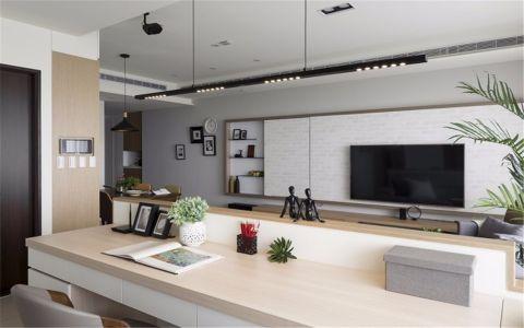 客厅米色书桌北欧风格装饰设计图片