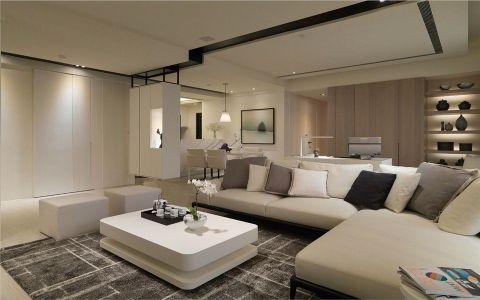 客厅白色沙发现代简约风格装饰效果图