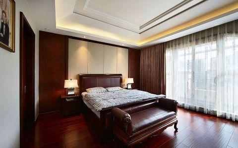 卧室地板砖新中式构造图