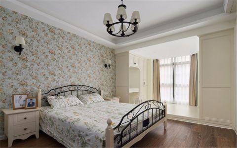 卧室米色床美式风格装修图片