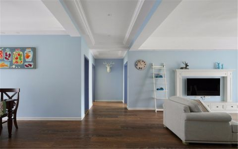 清爽白色走廊装饰实景图片