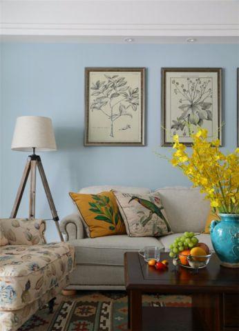 客厅米色沙发美式风格装饰效果图