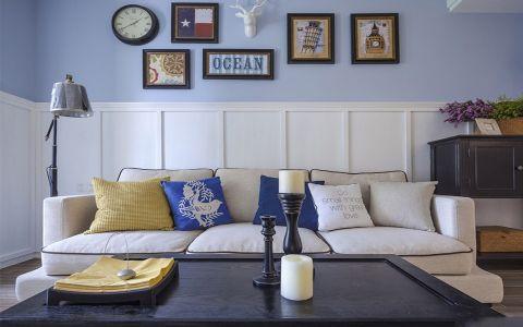 2019美式客厅装修设计 2019美式照片墙效果图