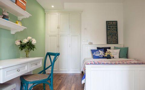 卧室背景墙美式风格装潢设计图片