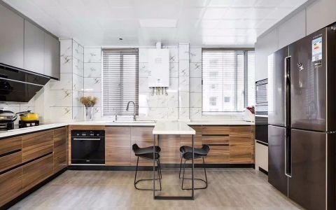 厨房窗帘北欧风格装潢设计图片