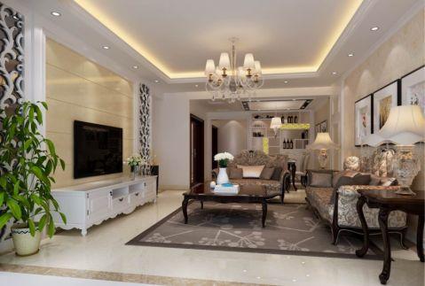客厅电视柜简欧风格装潢设计图片
