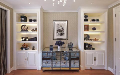 玄关背景墙简欧风格装潢设计图片