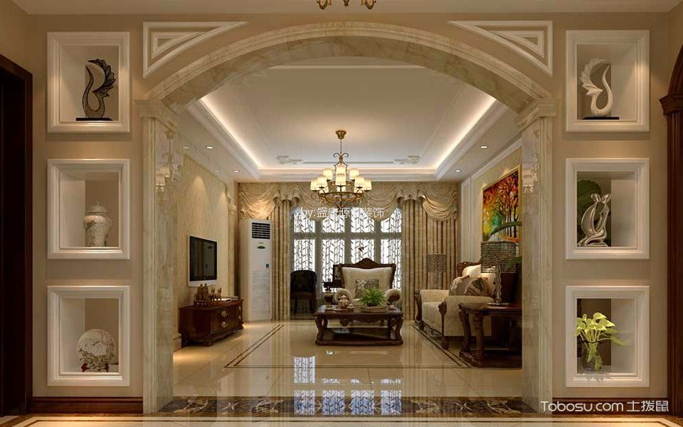 紫金欧式风格三居室装修效果图