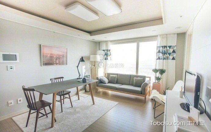 端木华庭110平现代简约风格二居室装修效果图