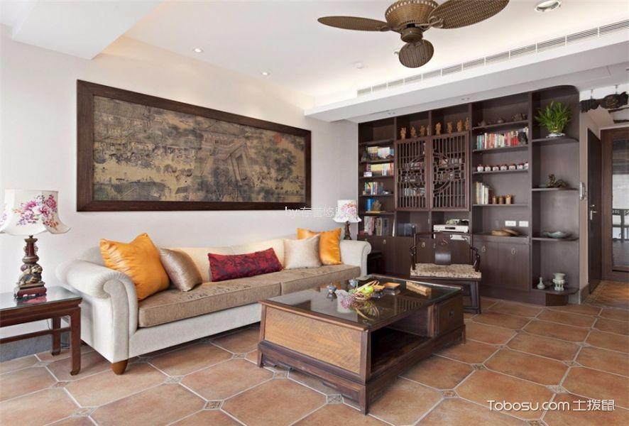 2018新中式客厅装修设计 2018新中式博古架装修设计图片