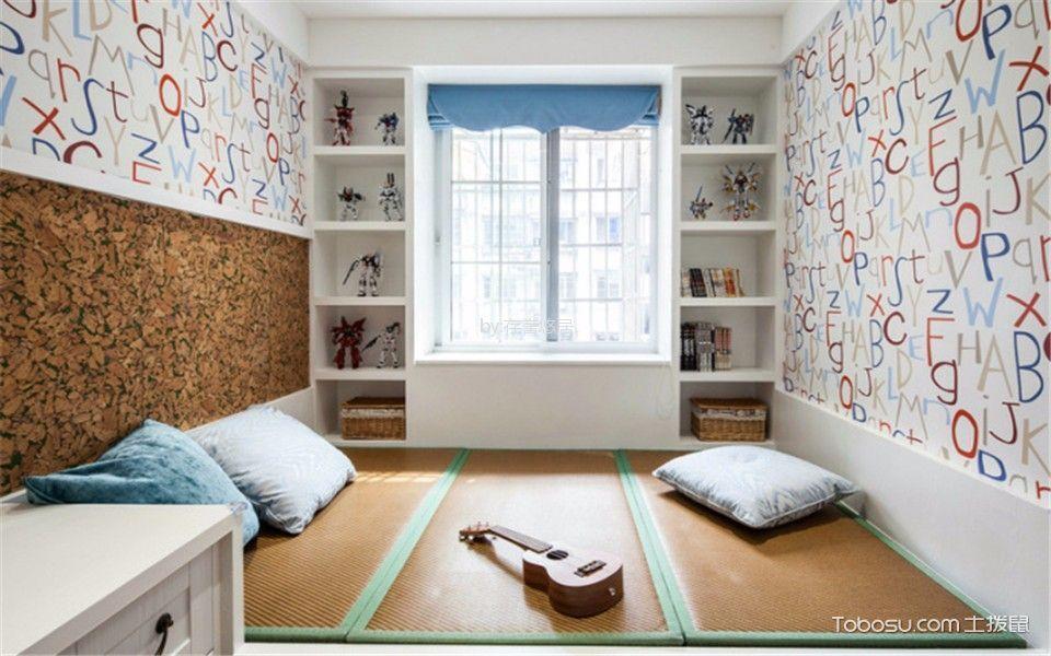 卧室咖啡色榻榻米混搭风格装修设计图片