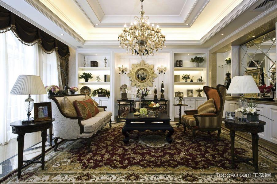 金隅观澜时代100平欧式风格二居室装修效果图
