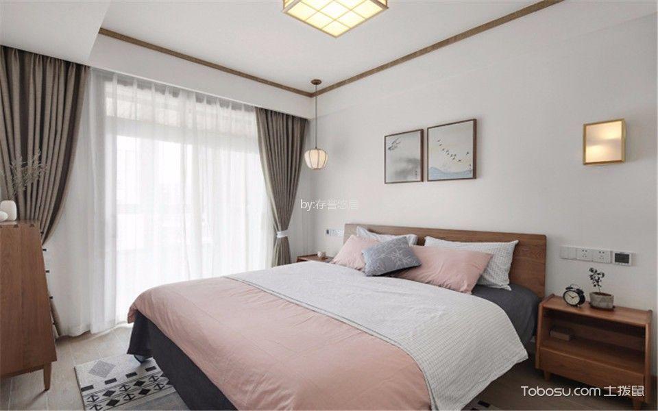 卧室白色床日式风格装修图片