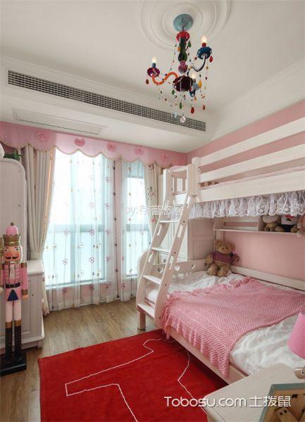 儿童房白色窗帘现代简约风格装饰设计图片
