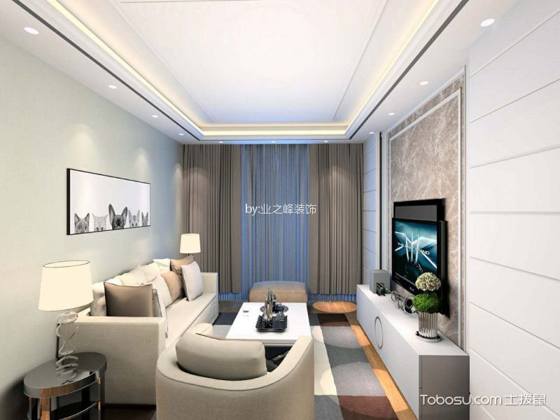 19.5万预算100平米两室两厅装修效果图