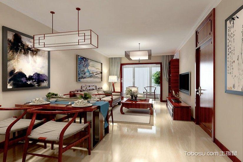 15万预算88平米两室两厅装修效果图