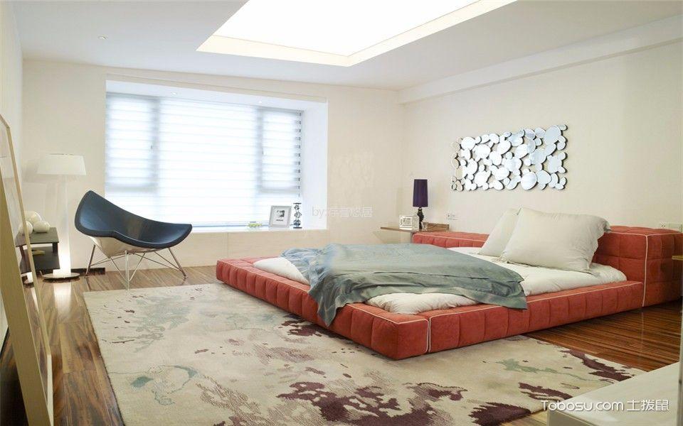 卧室白色飘窗现代风格装修效果图