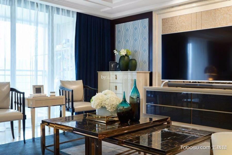 客厅黑色电视柜混搭风格装潢设计图片