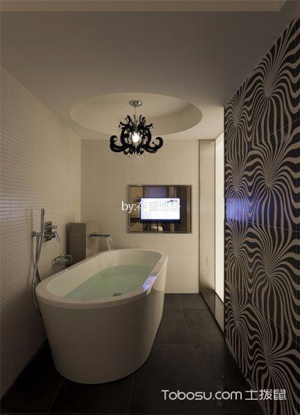 浴室白色浴缸现代风格装修设计图片