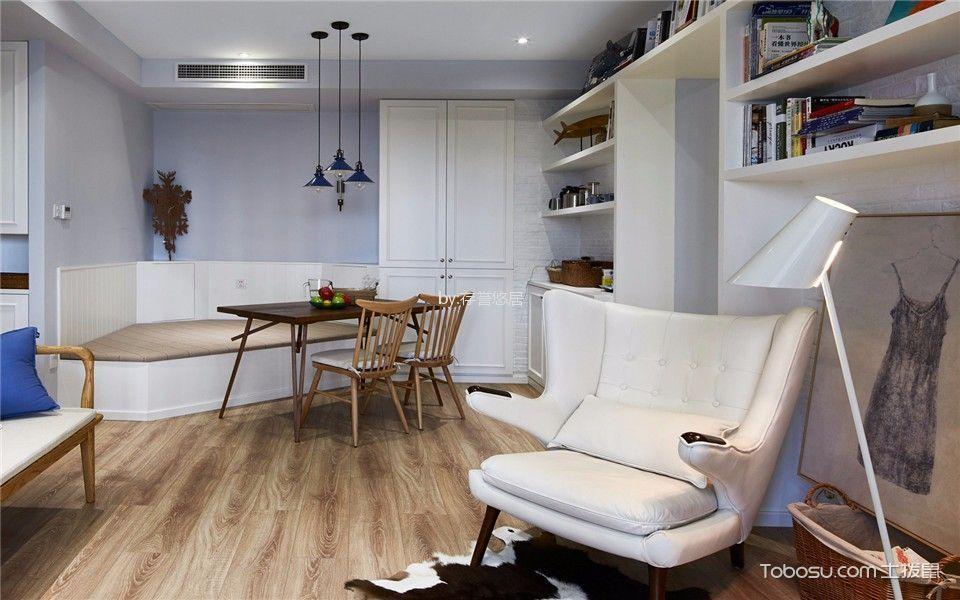 客厅白色书架现代风格效果图