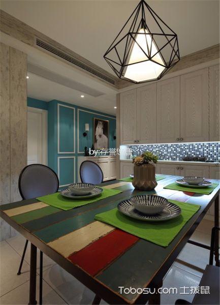 餐厅白色细节混搭风格装饰效果图