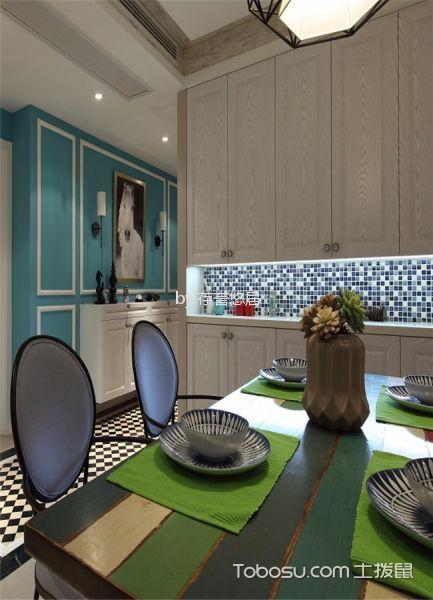 餐厅绿色细节混搭风格装修图片