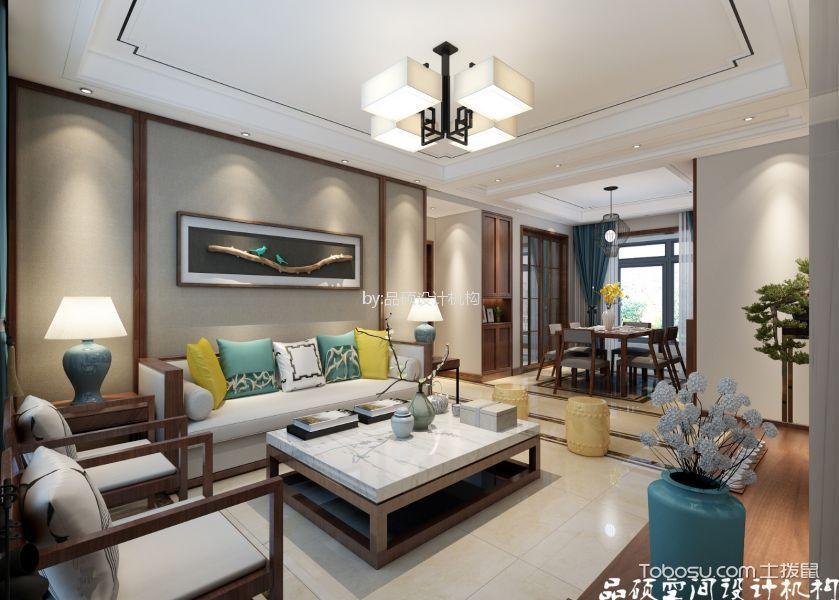 2019新中式客厅装修设计 2019新中式吊顶图片