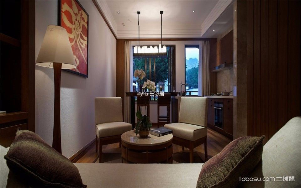 酒店东南亚风格宾馆沙发装修图片