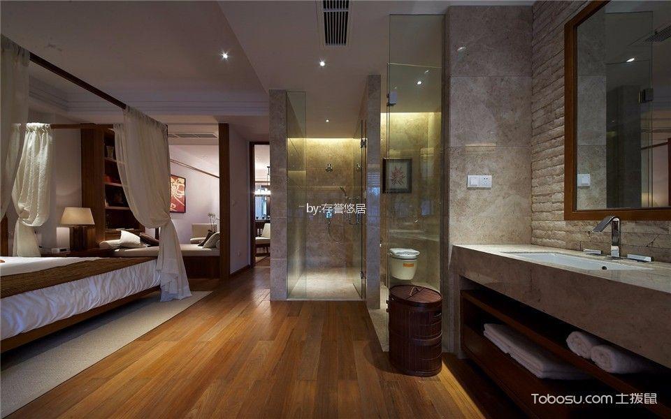 酒店东南亚风格宾馆卧室装修图片