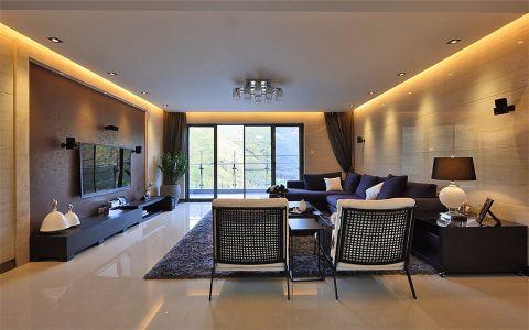 客厅推拉门现代简约风格装修设计图片