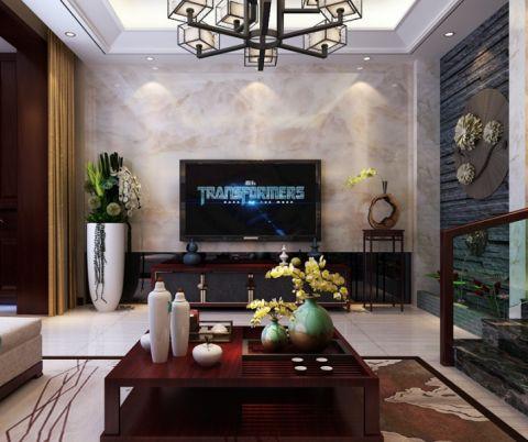 海棠罗马160平米新中式风格装修效果图