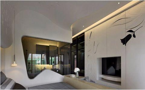 卧室背景墙后现代风格装潢效果图