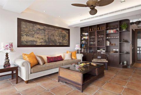 客厅博古架新中式家居装饰效果图